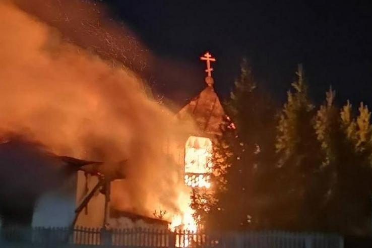 Митрополит Александр выразил слова поддержки в связи с пожаром в Петропавловском монастыре Павлодарской епархии