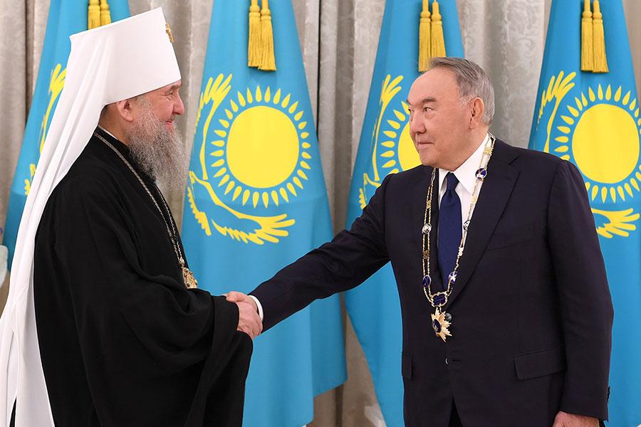 Состоялась встреча Первого Президента Казахстана Н.А. Назарбаева и митрополита Астанайского и Казахстанского Александра