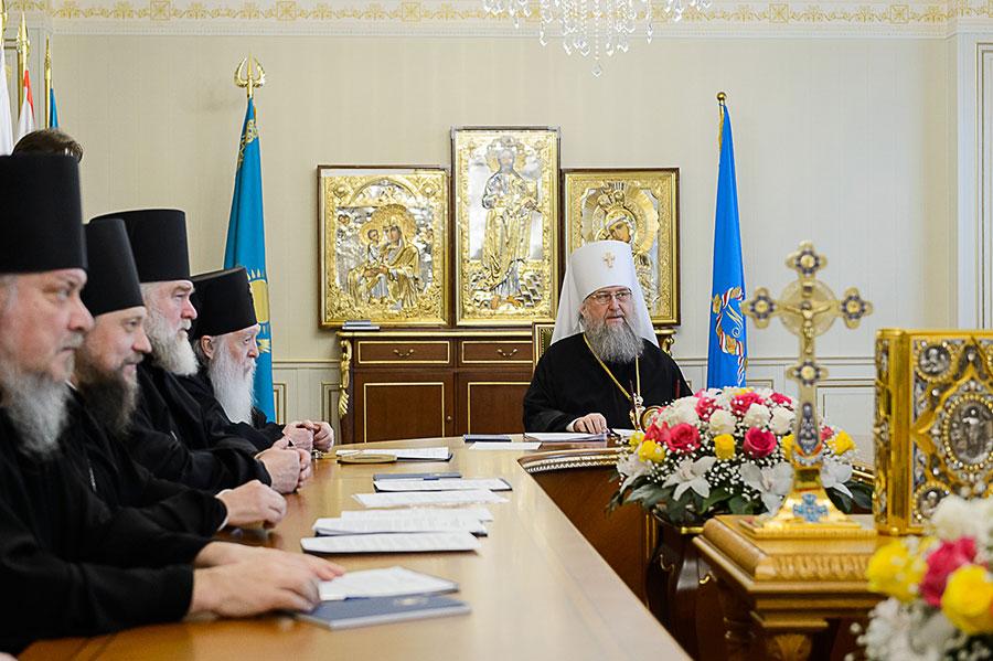 В Алма-Ате состоялось первое в 2020 году заседание Синода Митрополичьего округа Русской Православной Церкви в Республике Казахстан